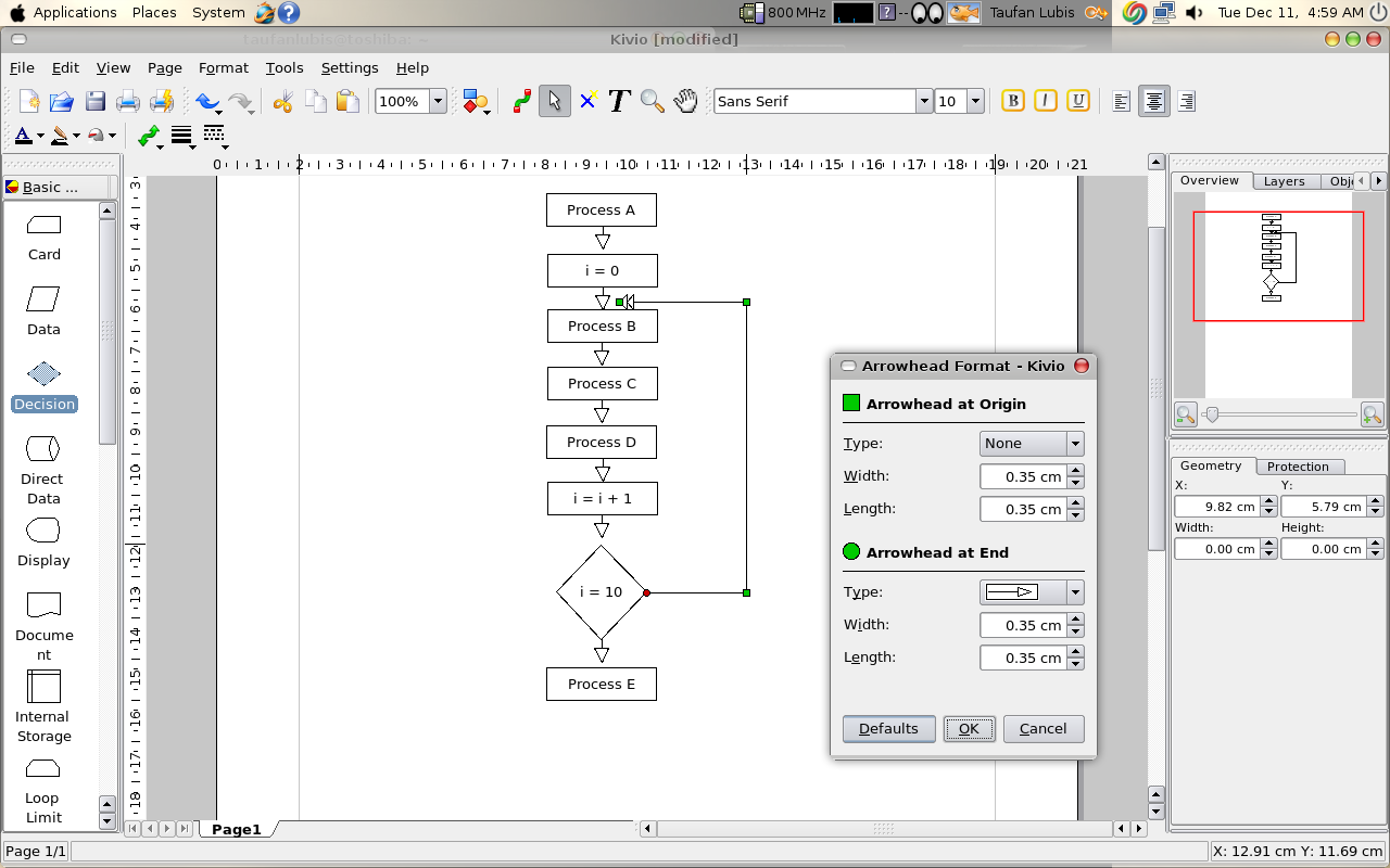 kivio 1 6 3  u2013 koffice flowchart and diagram tools