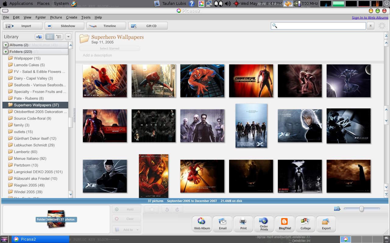 Google Picasa screenshot