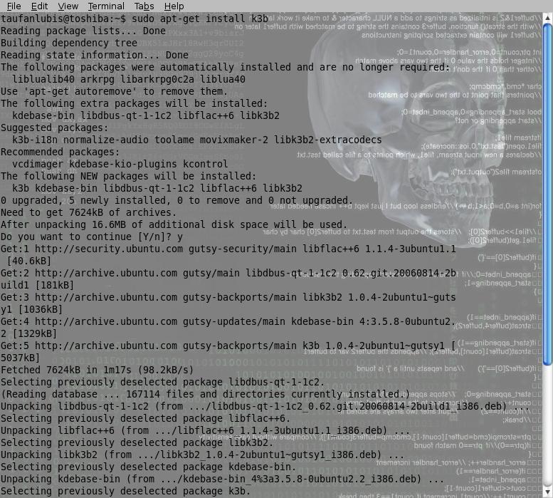 How to install K3B in Ubuntu Gutsy | Taufan Lubis - Ubuntu ...