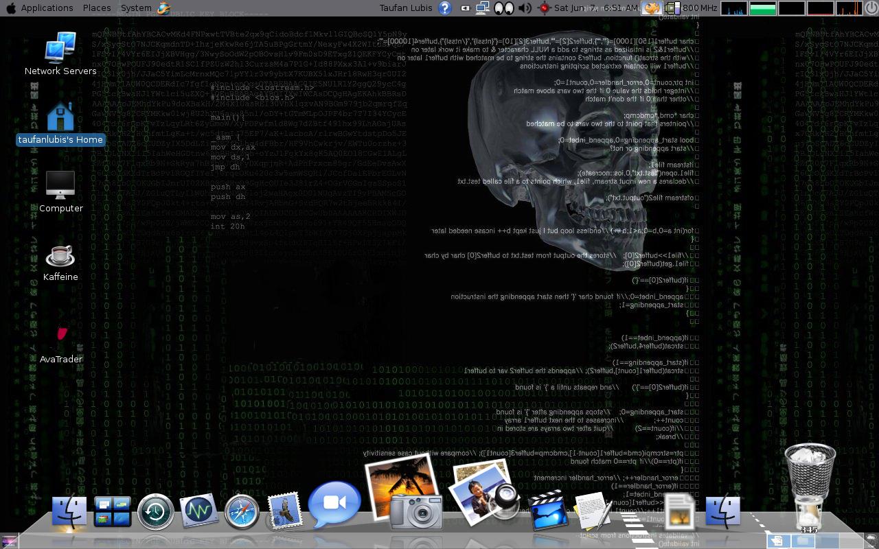 on your Ubuntu screen