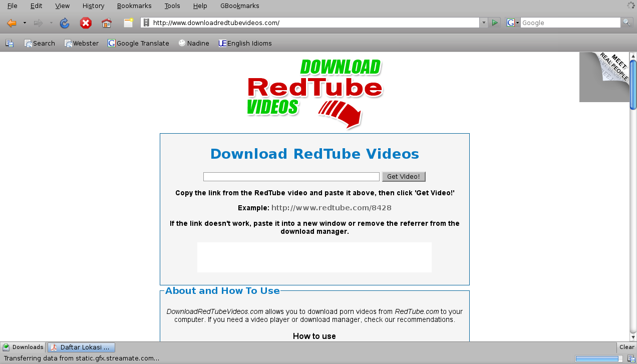 how to download videos from redtube in linux ubuntu. Black Bedroom Furniture Sets. Home Design Ideas