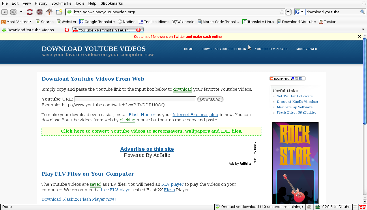 how to put a youtube video in xhtml