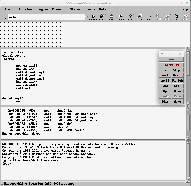 Gnu Debugger – Front End Graphical User Interface with DDD