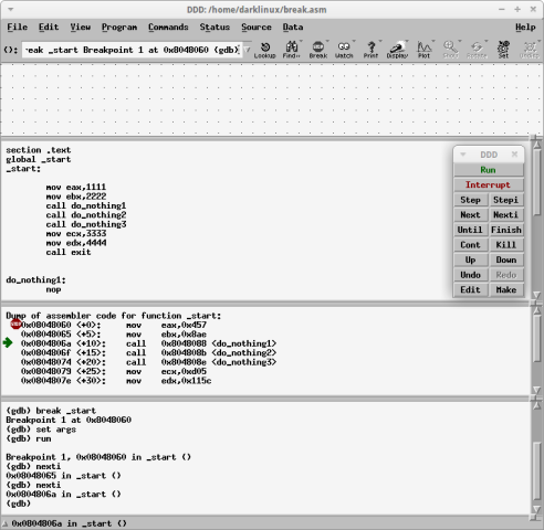 Gnu Debugger – Front End Graphical User Interface with DDD | Taufan